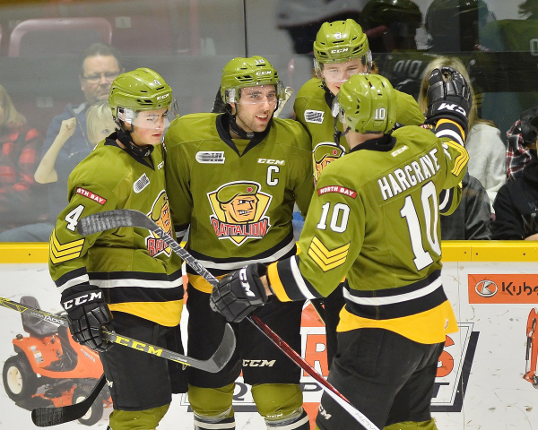 North Bay Battalion of the Ontario Hockey League. Photo by Terry Wilson    OHL Images c465ecc19c4